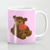 teddy bear Mugs featuring teddy bear by ArtSchool