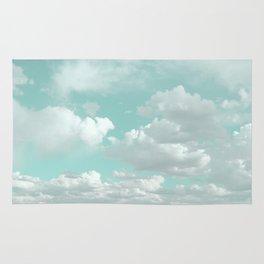 Clouds in a Mint Sky Rug