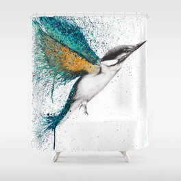 For I Must Be Traveling On Shower Curtain