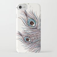 peacock iPhone & iPod Cases featuring PEACOCK by Monika Strigel