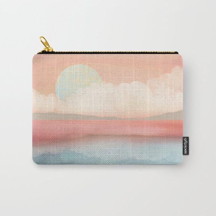 Mint Moon Beach Carry-All Pouch