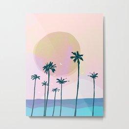 BEACH SIDE Metal Print