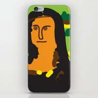 mona lisa iPhone & iPod Skins featuring Mona Lisa by John Sailor