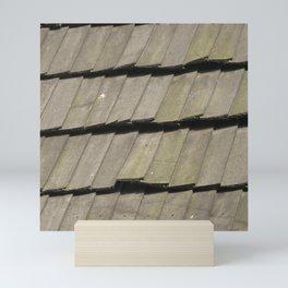 Texture #16 Roof tiles. Mini Art Print