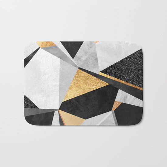 Geometry / Gold Bath Mat