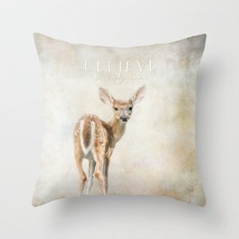 Believe You Can Throw Pillow