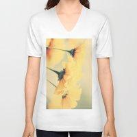 leah flores V-neck T-shirts featuring Flores by Irène Sneddon