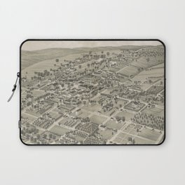 Vintage Pictorial Map of Monticello FL (1885) Laptop Sleeve