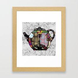 Patchwork Teapot Framed Art Print