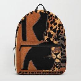 Vintage Munich Zoo Leopard 1912 Advertisement Backpack