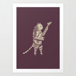 Catstar Art Print