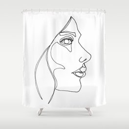 DISAPPOINTMENT ( ONE LINE DRAW) Shower Curtain