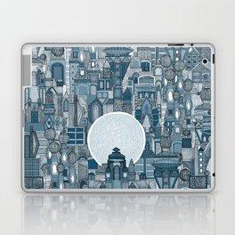 space city mono blue Laptop & iPad Skin