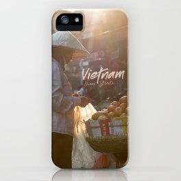 Vietnam Street Market (With text) iPhone Case