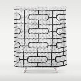 Vintage Window Grille Cross Stitch Pattern #7 Shower Curtain