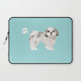 shih tzu funny farting dog breed pure breed pet gifts Laptop Sleeve