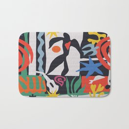 inspired to Matisse (black) Bath Mat