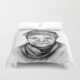 Maya Angelou - BW Original Sketch Duvet Cover