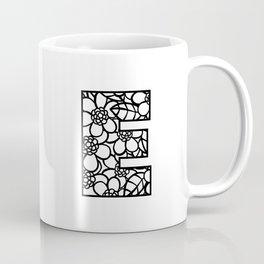 Letter E Coffee Mug