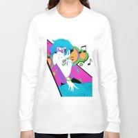 vinyl Long Sleeve T-shirts featuring Vinyl by Pachiiri