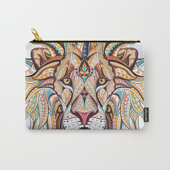 Brown Ethnic Lion Carry-All Pouch