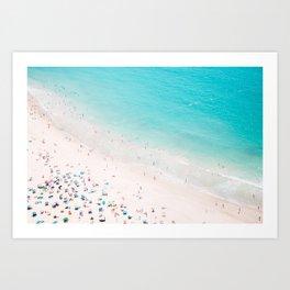 Beach Loving - Aerial Beach photography by Ingrid Beddoes Art Print