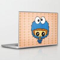 cookie monster Laptop & iPad Skins featuring Cookie Monster Boy  by aldarwish