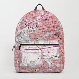 Vintage Map of Reno Nevada (1967) Backpack
