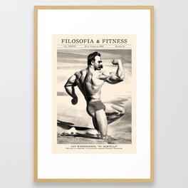 Filosofía & Fitness Framed Art Print