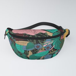 Floral Wreath - Botanical, Illustration, Flowers, Spring, Bouquet, Garden Fanny Pack