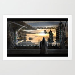 Ship's Station Art Print