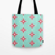 Retro Red Stars Tote Bag