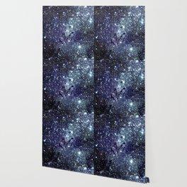 The Eagle Nebula / Pillars of Creation Midnight Indigo Teal Blue Wallpaper