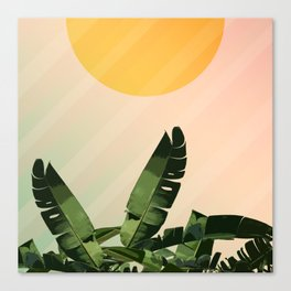 Sunny heliconia Canvas Print