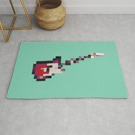 Pixelated Guitar Rug