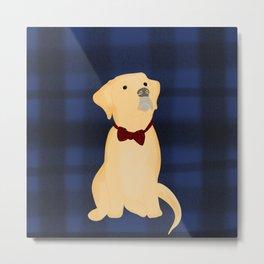 Best Friend Labrador Puppy In A Bow Tie Metal Print