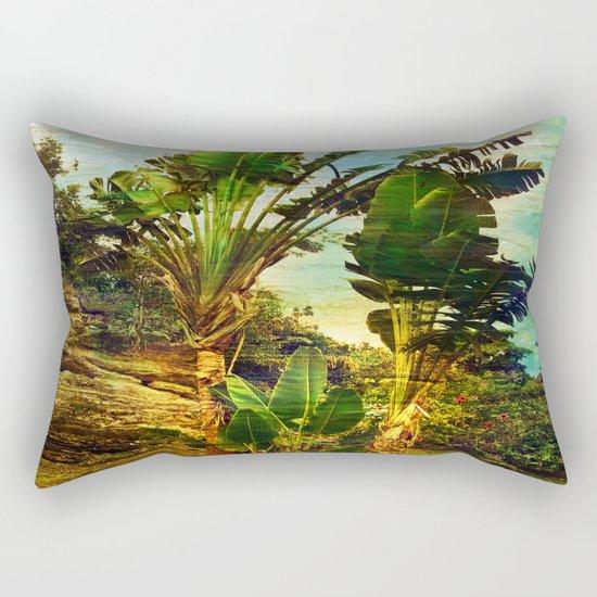 Traveller's Palm Rectangular Pillow