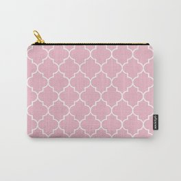 Moroccan Trellis, Latticework - Pink White Carry-All Pouch
