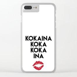 KOKAINA KOKA KOKA INA - Miami Yacine Lyrics Clear iPhone Case