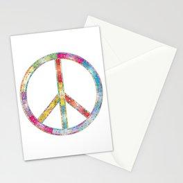 flourish decorative peace sign Stationery Cards