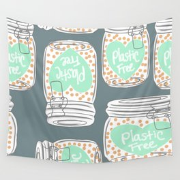 Reducing single use plastic art work Wall Tapestry