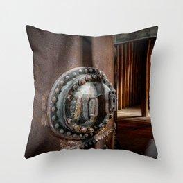 Industrial halt Throw Pillow