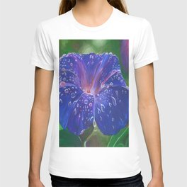 Deep Purple Morning Glory With Morning Dew T-shirt
