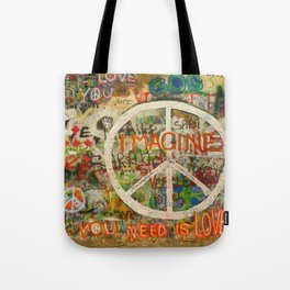 Peace Sign - Love - Graffiti Tote Bag