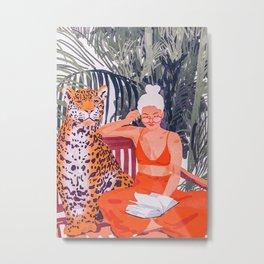 Jungle Vacay II Metal Print