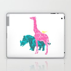 Pink Giraffe Laptop & iPad Skin