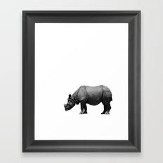 Bored Rhino Framed Art Print