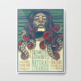Crowd the Airwaves  - Spike Hill Gig Poster Metal Print