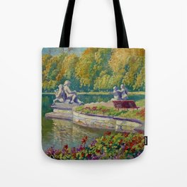 Lake and Gardens with Statuary Landscape by Nikolay Bogdanov-Belsky Tote Bag