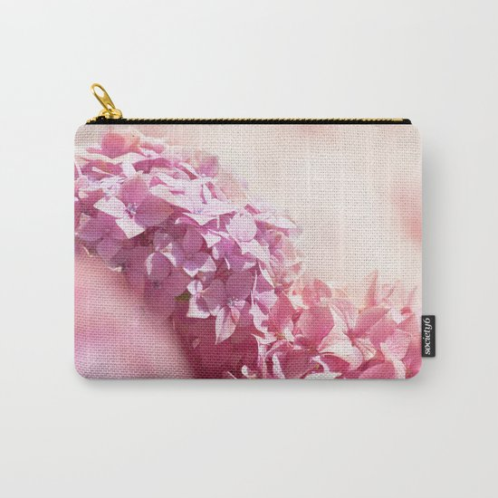 Dreamy pink hydrangea - Flower - Floral Carry-All Pouch